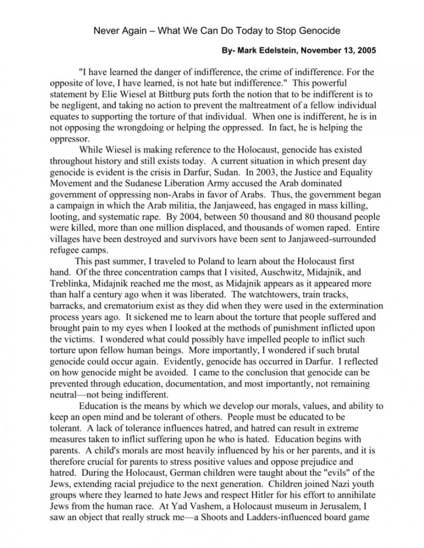 001 Wonderful Holocaust Essay Idea  Thesi Hook Contest 2020868