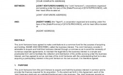 001 Wonderful Joint Venture Agreement Template Example  South African Doc Uk Property Development