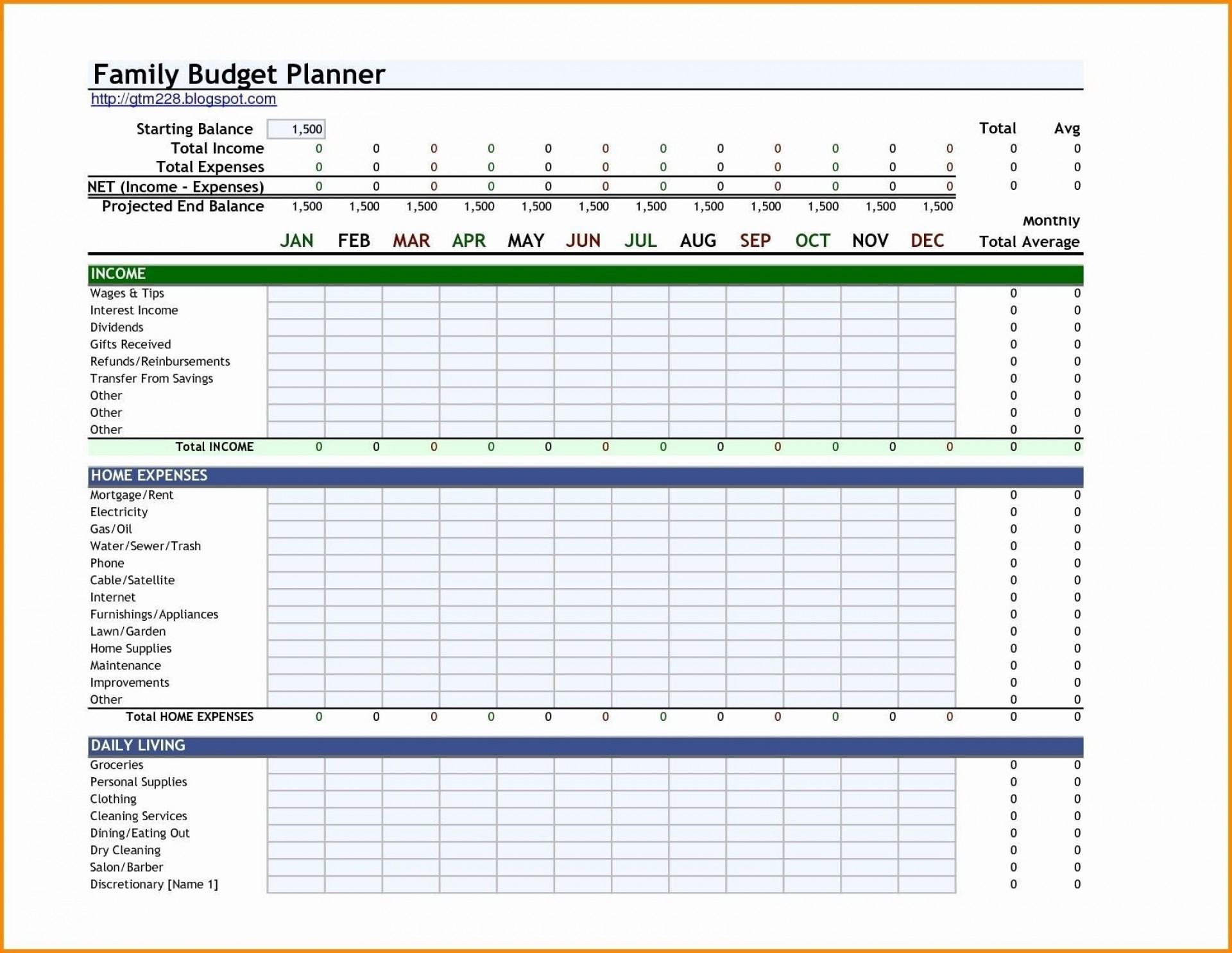 001 Wonderful Monthly Expense Excel Template Design  Budget Spreadsheet Free1920