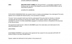 001 Wonderful Non Compete Agreement Template Idea  Sample India Free Florida