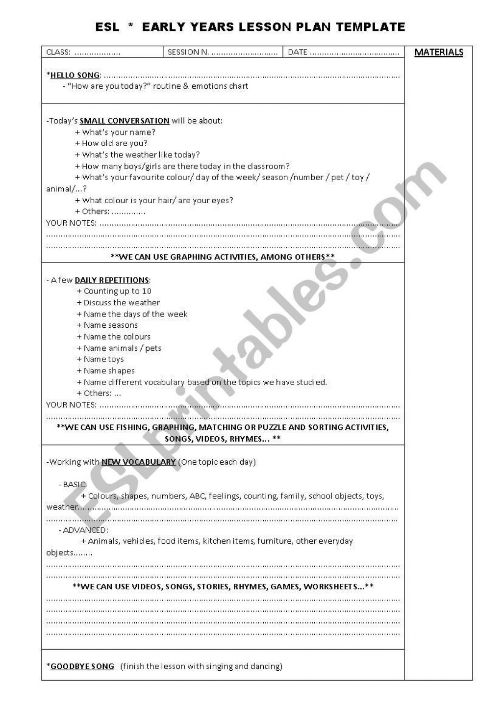 001 Wonderful One Day Lesson Plan Template Inspiration  Example FormatLarge