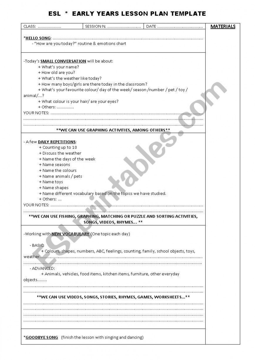 001 Wonderful One Day Lesson Plan Template Inspiration  Example Word