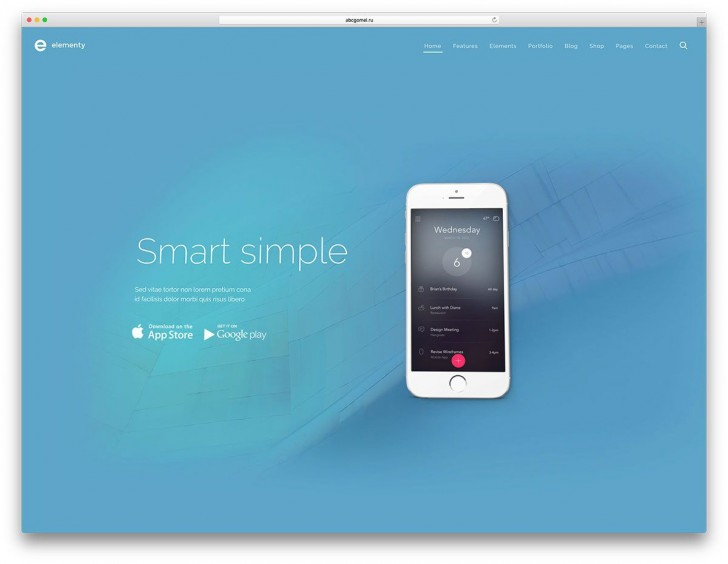 001 Wonderful One Page Website Template Free Download Html Sample  Simple With Cs Responsive728