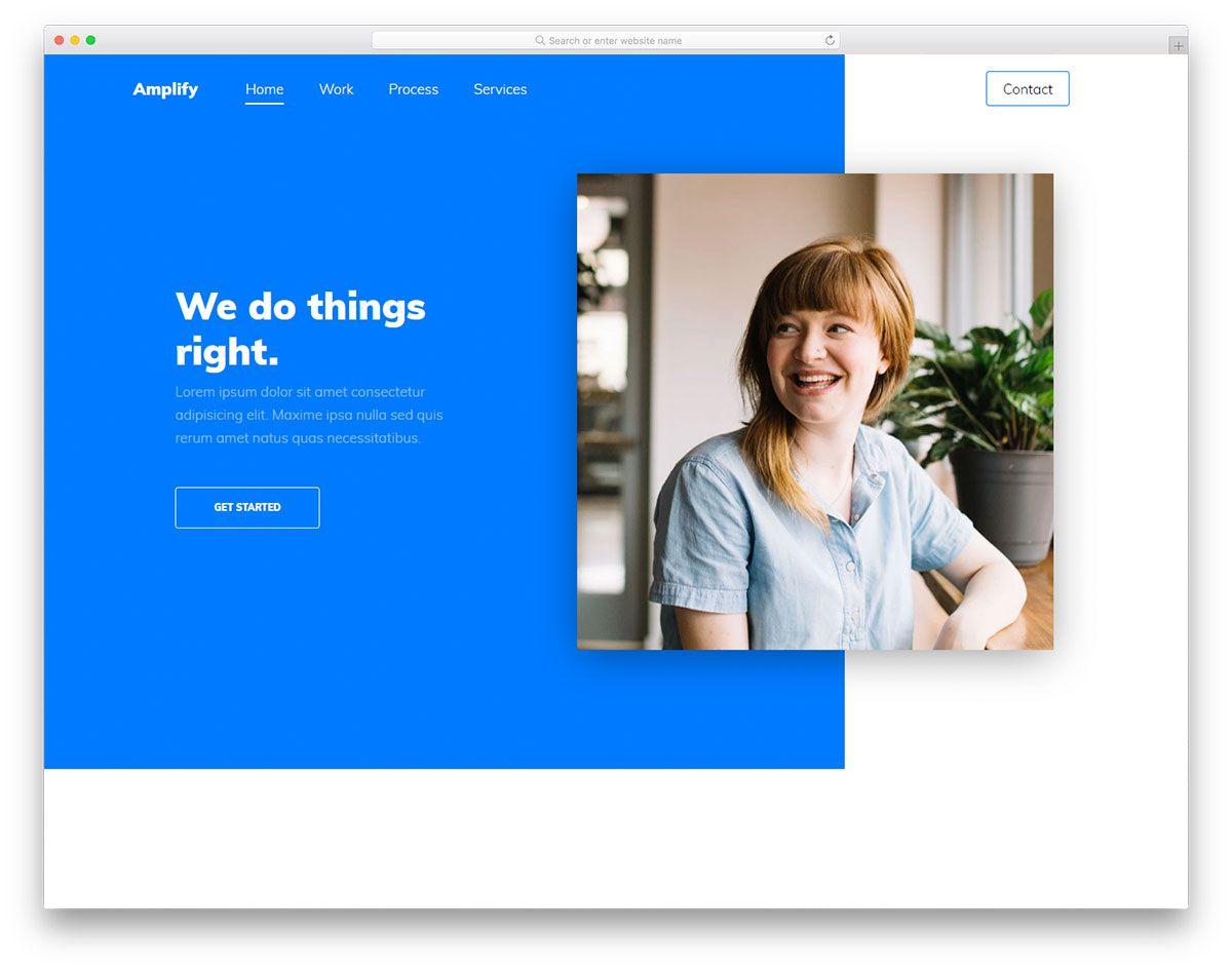 001 Wonderful Personal Portfolio Template Free Download Idea  Psd PowerpointFull