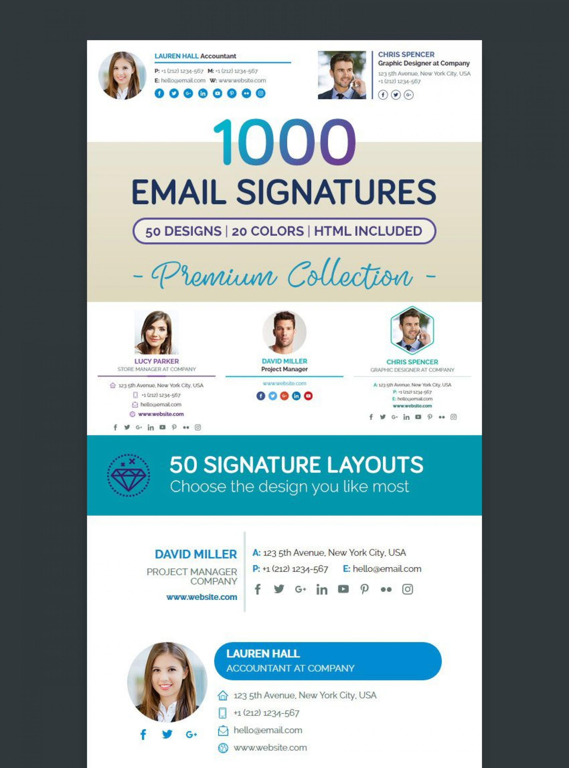 001 Wonderful Professional Email Signature Template Example  Download Free Html1920