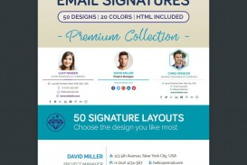 001 Wonderful Professional Email Signature Template Example  Free Html Download
