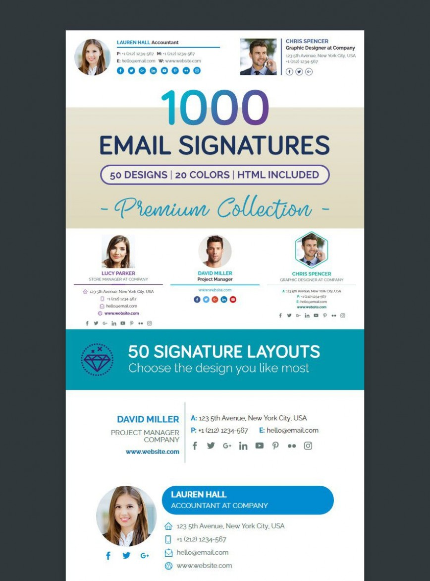001 Wonderful Professional Email Signature Template Example  Free Html Download868