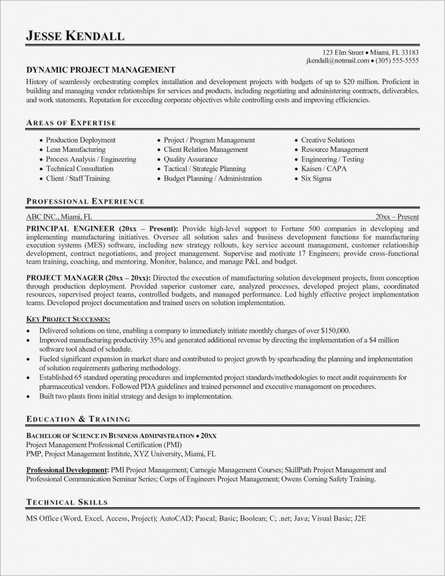 Project Manager Resume Sample Doc from www.addictionary.org