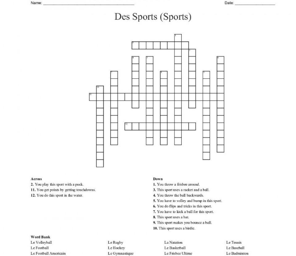 001 Wonderful Racket Crossword Clue Sample  La Time 3 Letter Nyt960
