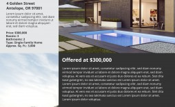 001 Wonderful Real Estate Marketing Flyer Template Free Concept