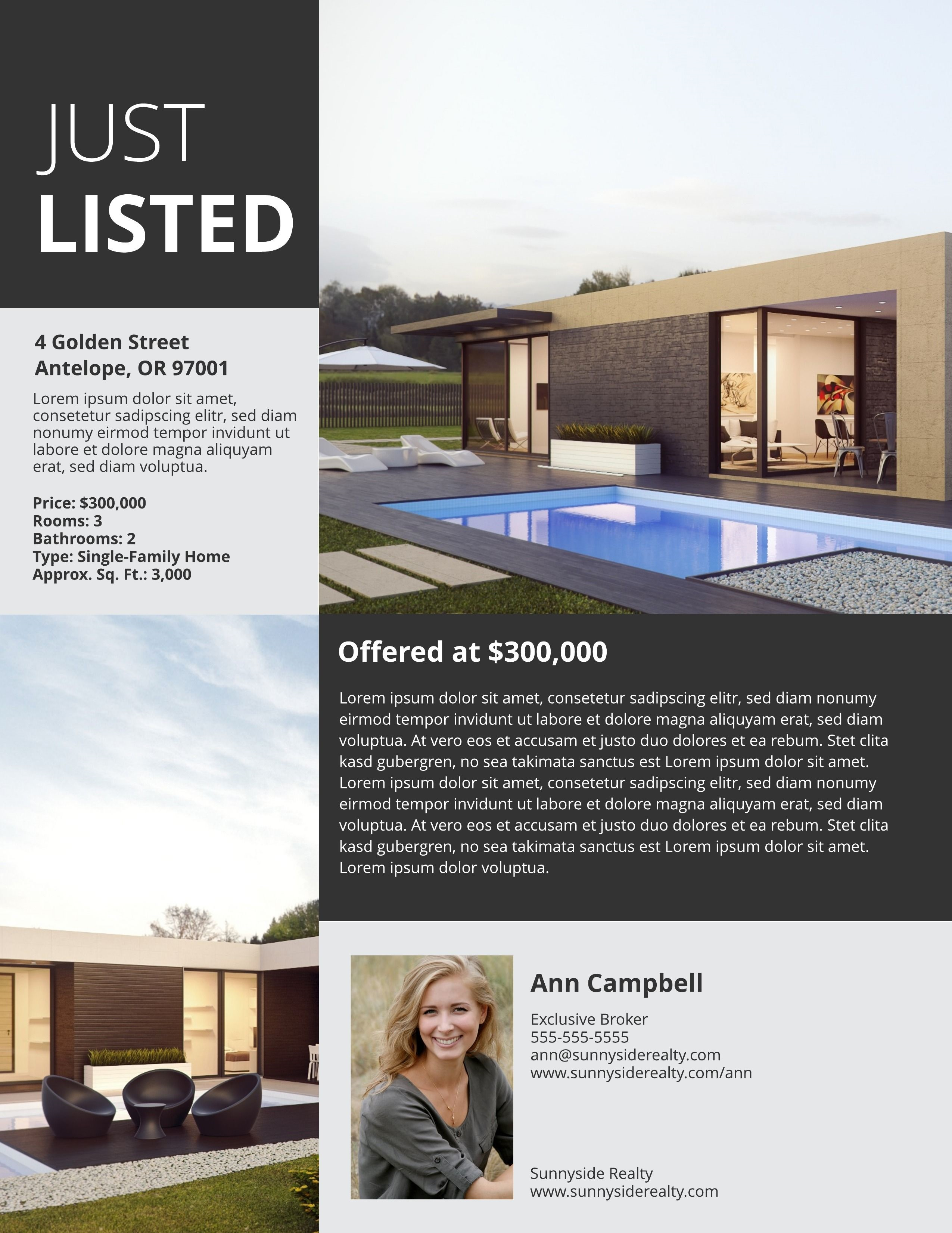 001 Wonderful Real Estate Marketing Flyer Template Free Concept Full