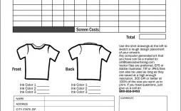 001 Wonderful Shirt Order Form Template Design  Tee T Microsoft Word