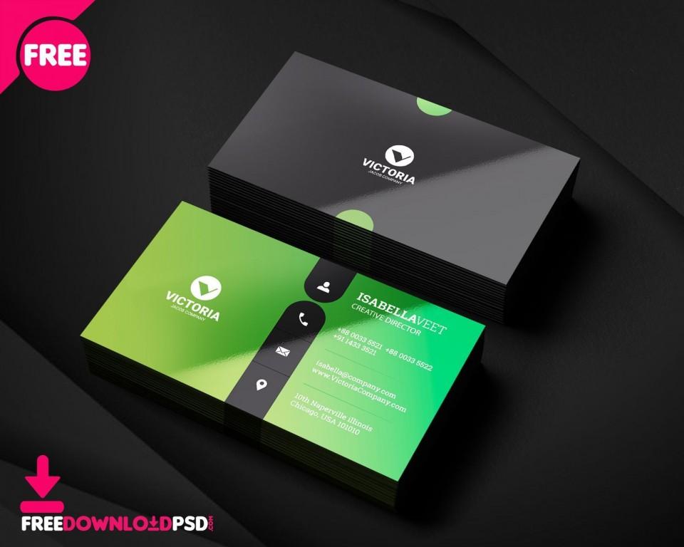 001 Wonderful Simple Visiting Card Design Free Download Image  Busines Psd File960