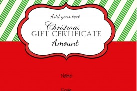 001 Wonderful Template For Christma Gift Certificate Free Highest Quality  Voucher Uk Editable Download Microsoft Word