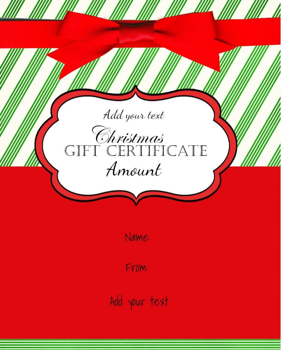 001 Wonderful Template For Christma Gift Certificate Free Highest Quality  Voucher Uk Editable Download Microsoft Word960