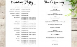 001 Wonderful Wedding Order Of Service Template Image  Pdf Publisher Microsoft Word