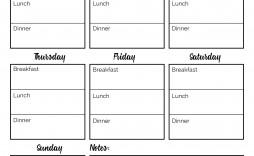 001 Wonderful Weekly Meal Planning Worksheet Pdf Idea  Free