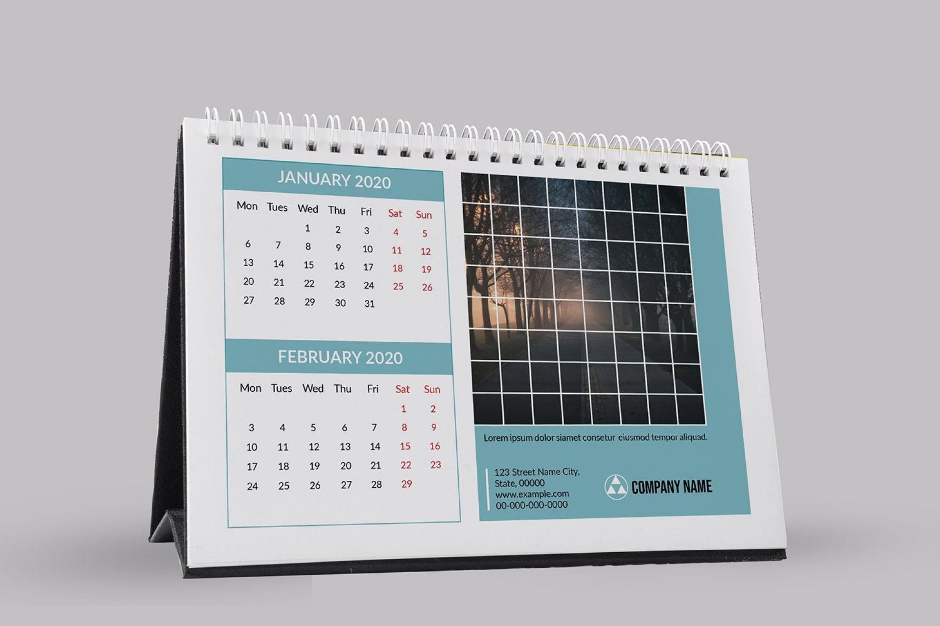 001 Wondrou 2020 Calendar Template Indesign Highest Clarity  Adobe Free1920