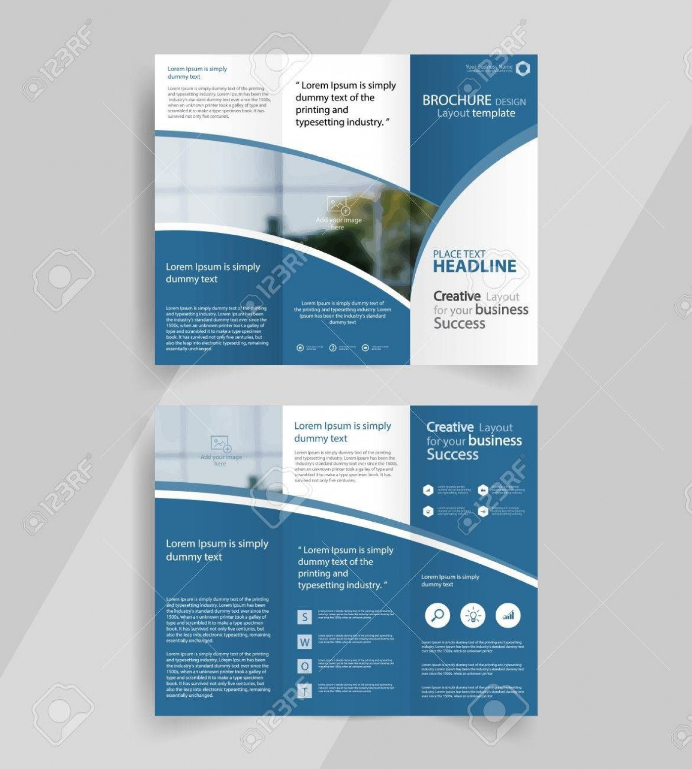 001 Wondrou 3 Fold Brochure Template High Def  For Free1400