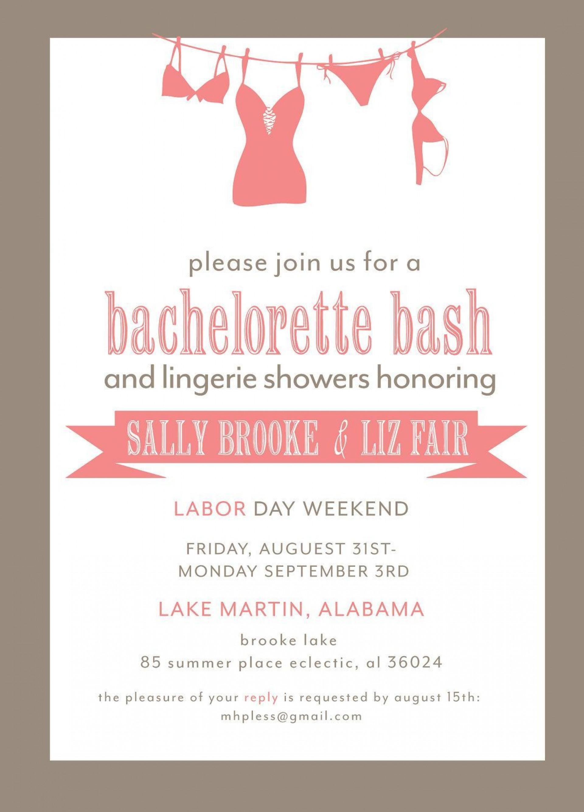 001 Wondrou Bachelorette Party Invitation Template Word Free Idea 1920