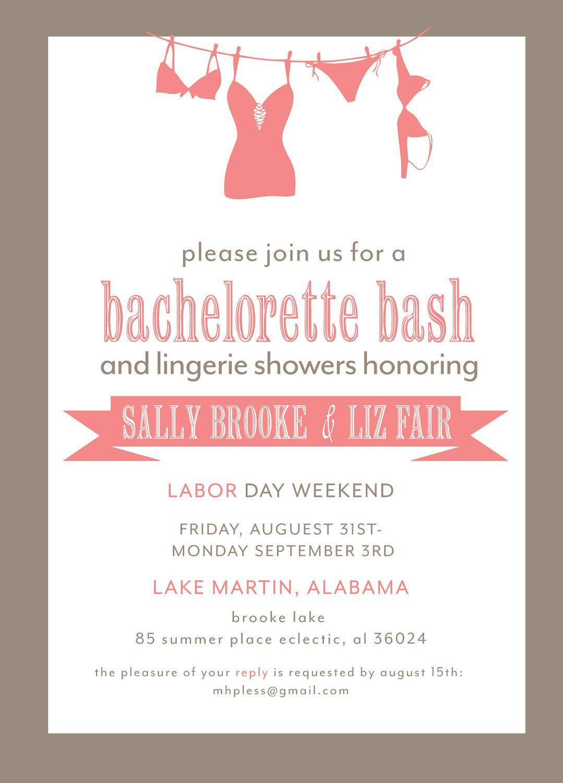 001 Wondrou Bachelorette Party Invitation Template Word Free Idea Full