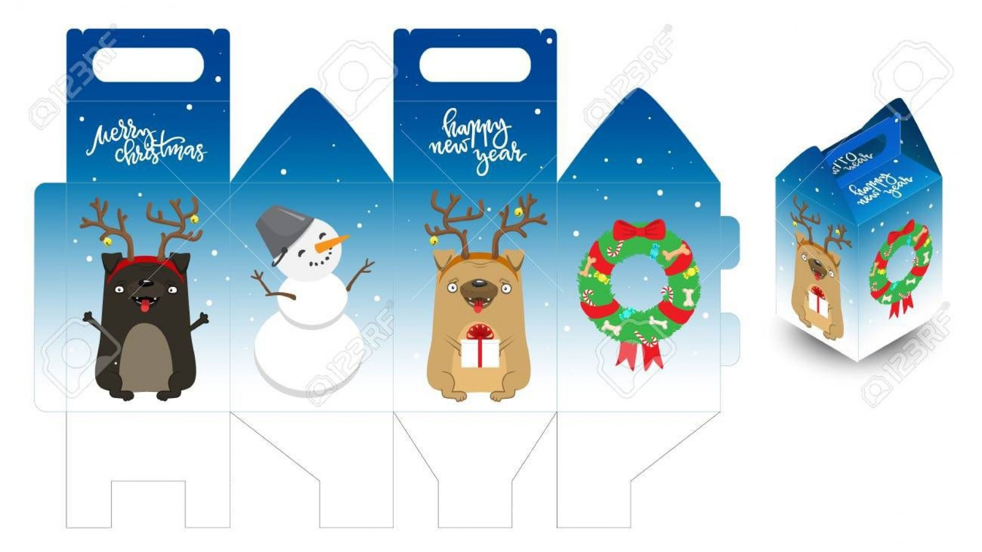 001 Wondrou Christma Gift Box Template Free Printable High Def  Tree1920