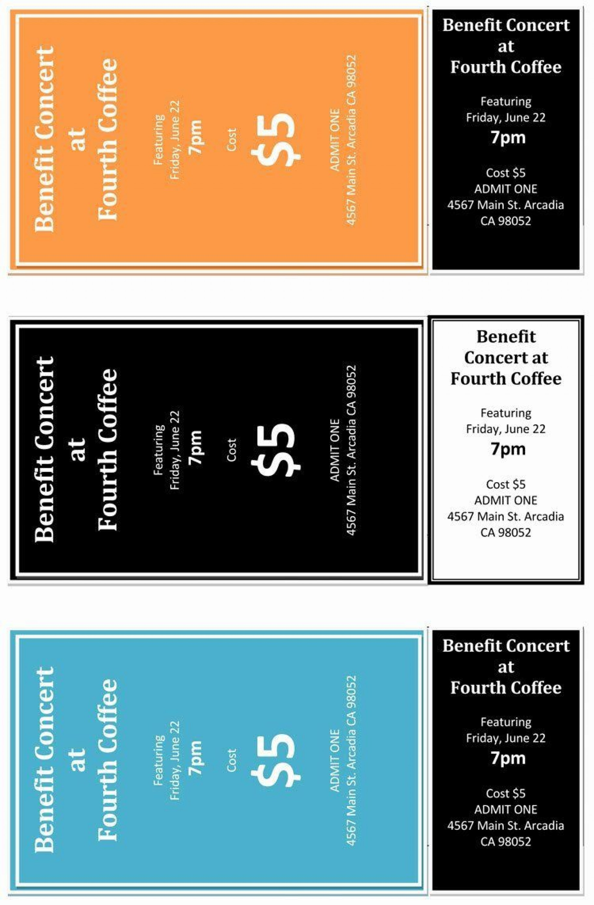 001 Wondrou Concert Ticket Template Word Highest Clarity  Free Microsoft1920