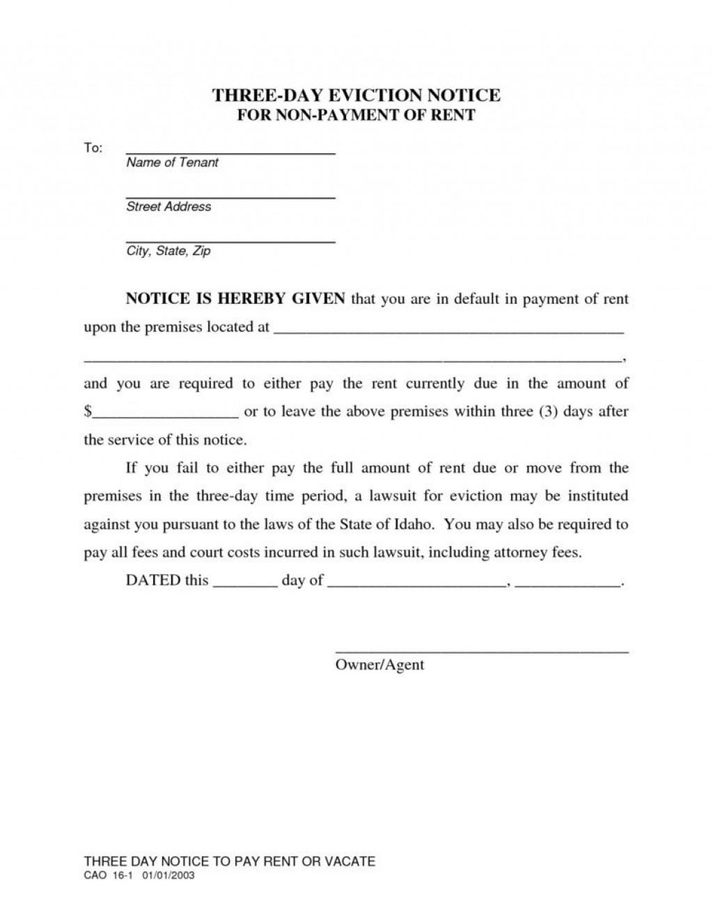 001 Wondrou Eviction Notice Florida Template High Resolution  15 Day Free PrintableLarge