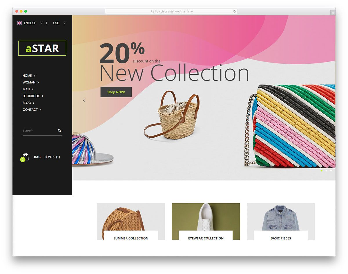 001 Wondrou Free Ecommerce Website Template Download Photo  Shopping Cart Bootstrap 3Full