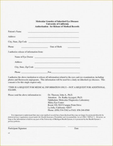 001 Wondrou Free Parental Medical Consent Form Template Photo 360