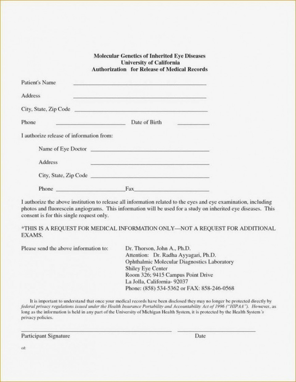 001 Wondrou Free Parental Medical Consent Form Template Photo 960