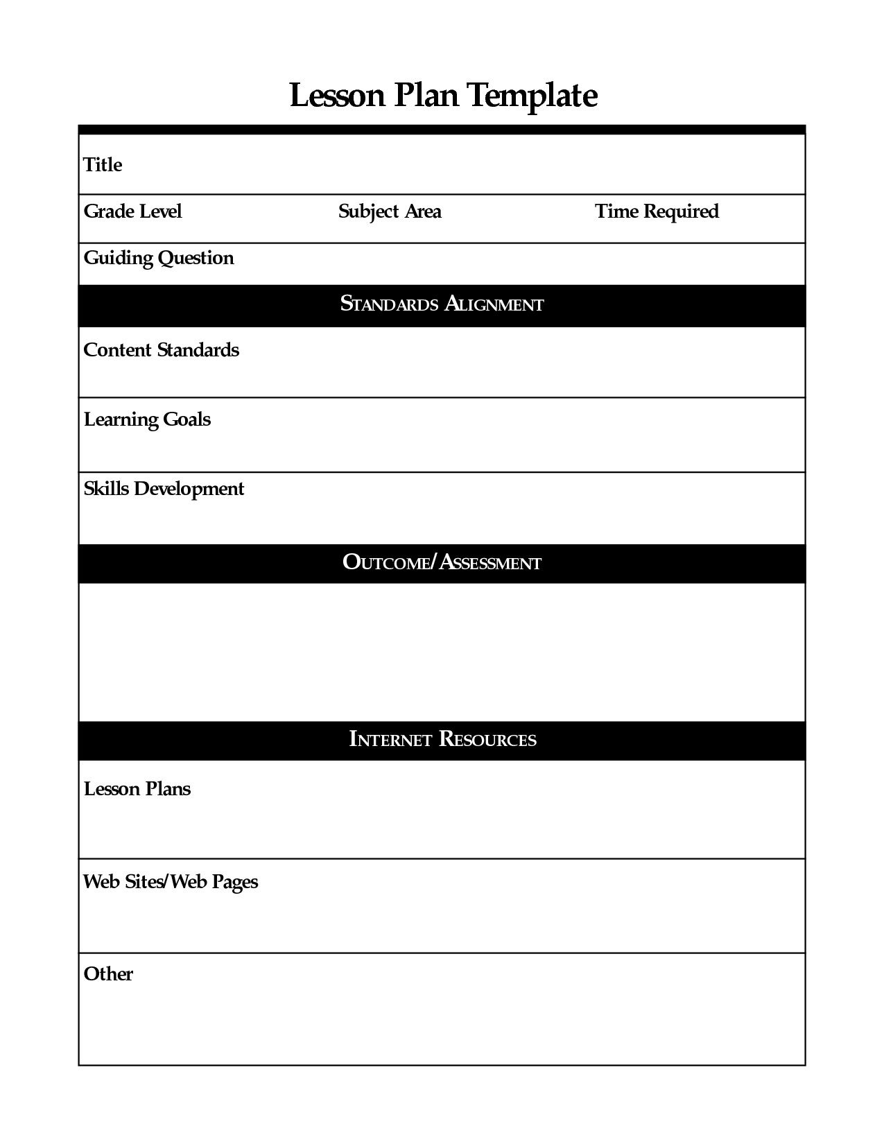 001 Wondrou Free Printable Lesson Plan Template Inspiration  Preschool Weekly For KindergartenFull