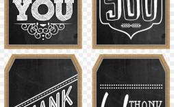 001 Wondrou Free Printable Thank You Gift Tag Template Idea  Templates