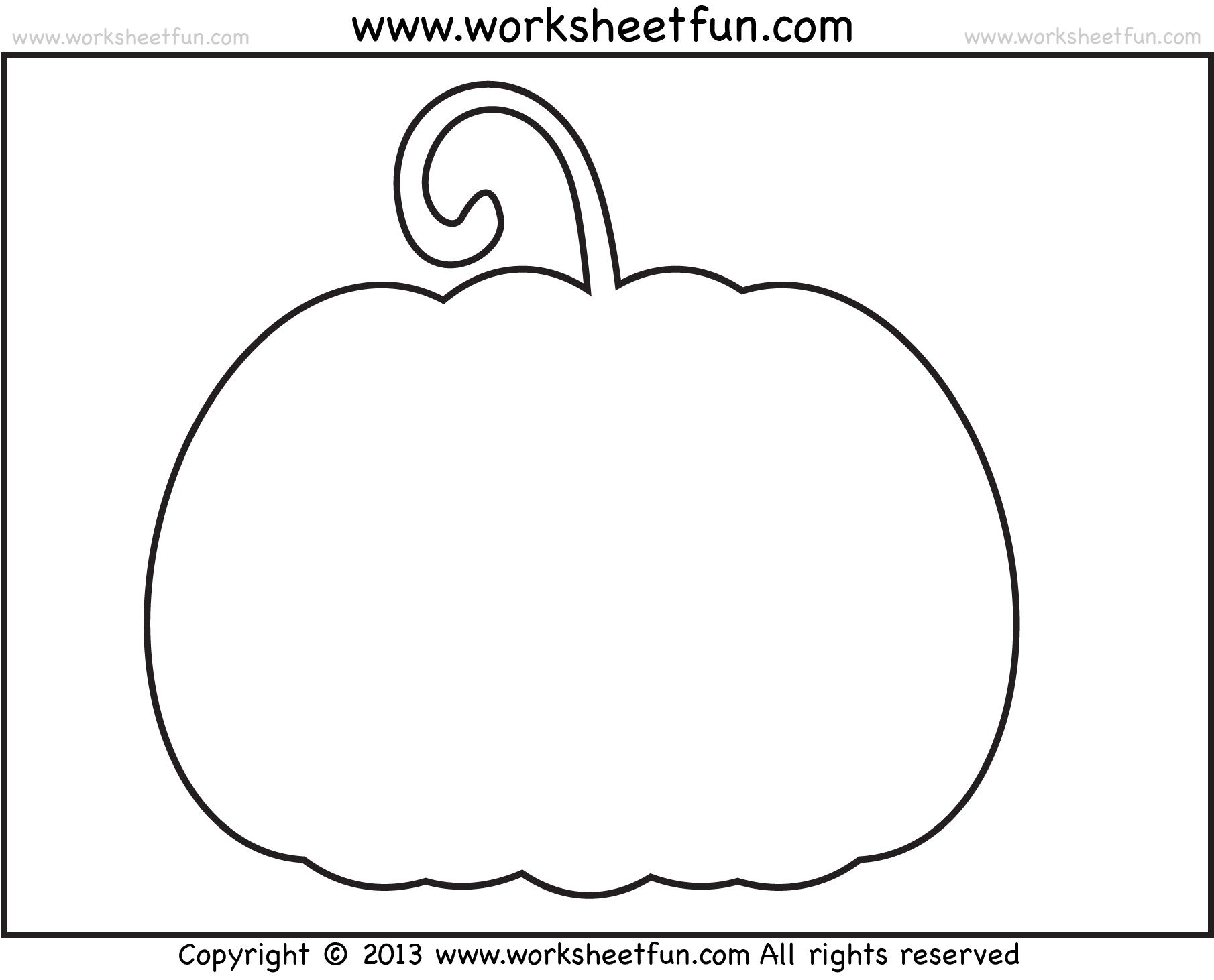 001 Wondrou Free Pumpkin Template Printable Design  Easy Carving Scary StencilFull