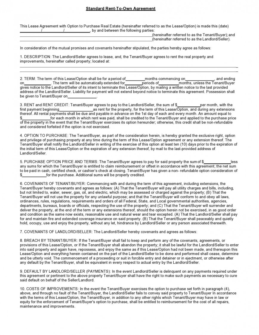 001 Wondrou Free Rent To Own Home Contract Template High Def  House Form