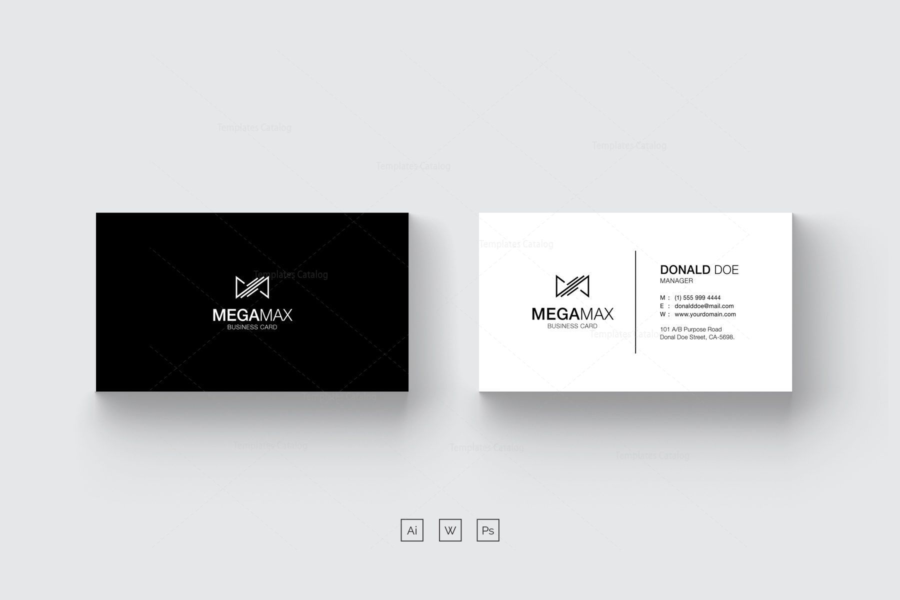 001 Wondrou Minimal Busines Card Template Psd Inspiration  Simple Visiting Design In Photoshop File Free DownloadFull