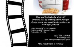 001 Wondrou Movie Night Flyer Template Highest Quality  Templates Free Microsoft Word