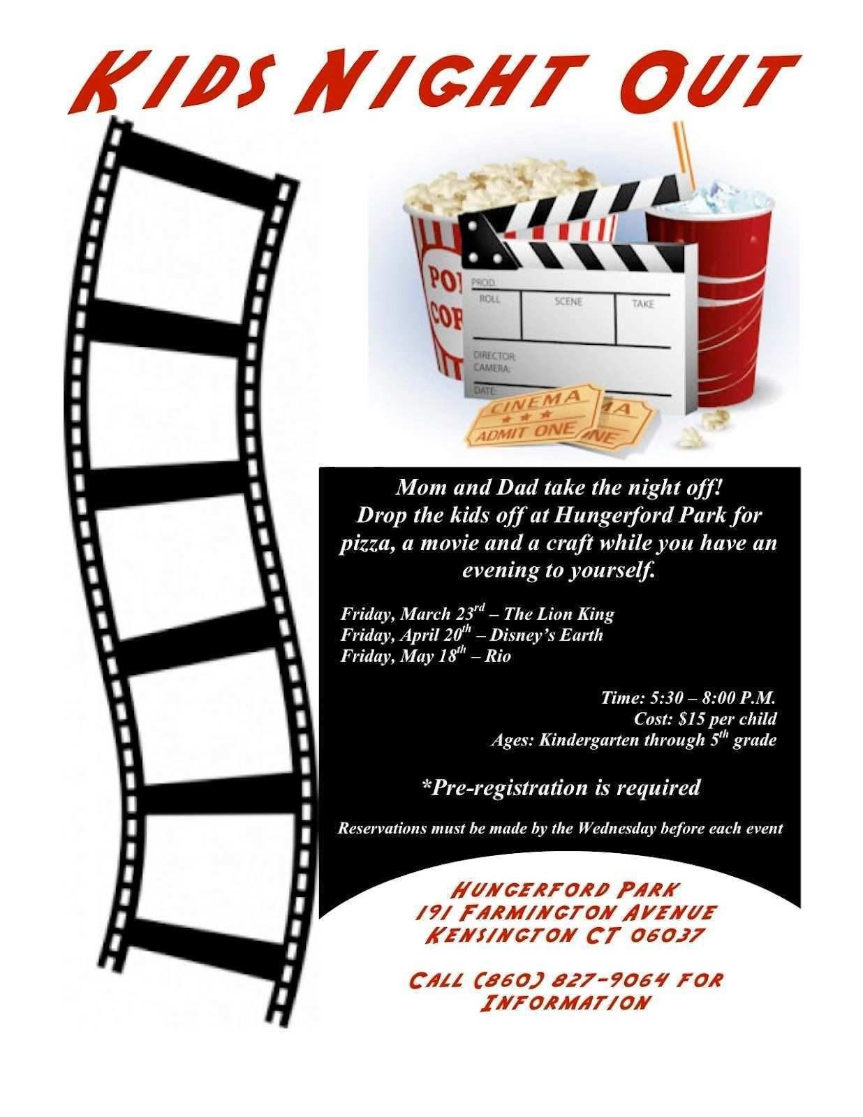 001 Wondrou Movie Night Flyer Template Highest Quality  Templates Free Microsoft WordFull