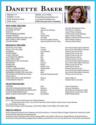 001 Wondrou Musical Theater Resume Template Word Picture  Theatre320