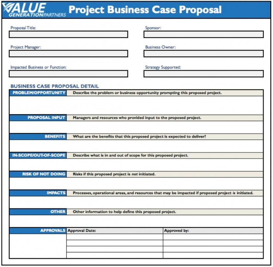 001 Wondrou Simple Busines Case Template Idea  Example Pdf Doc