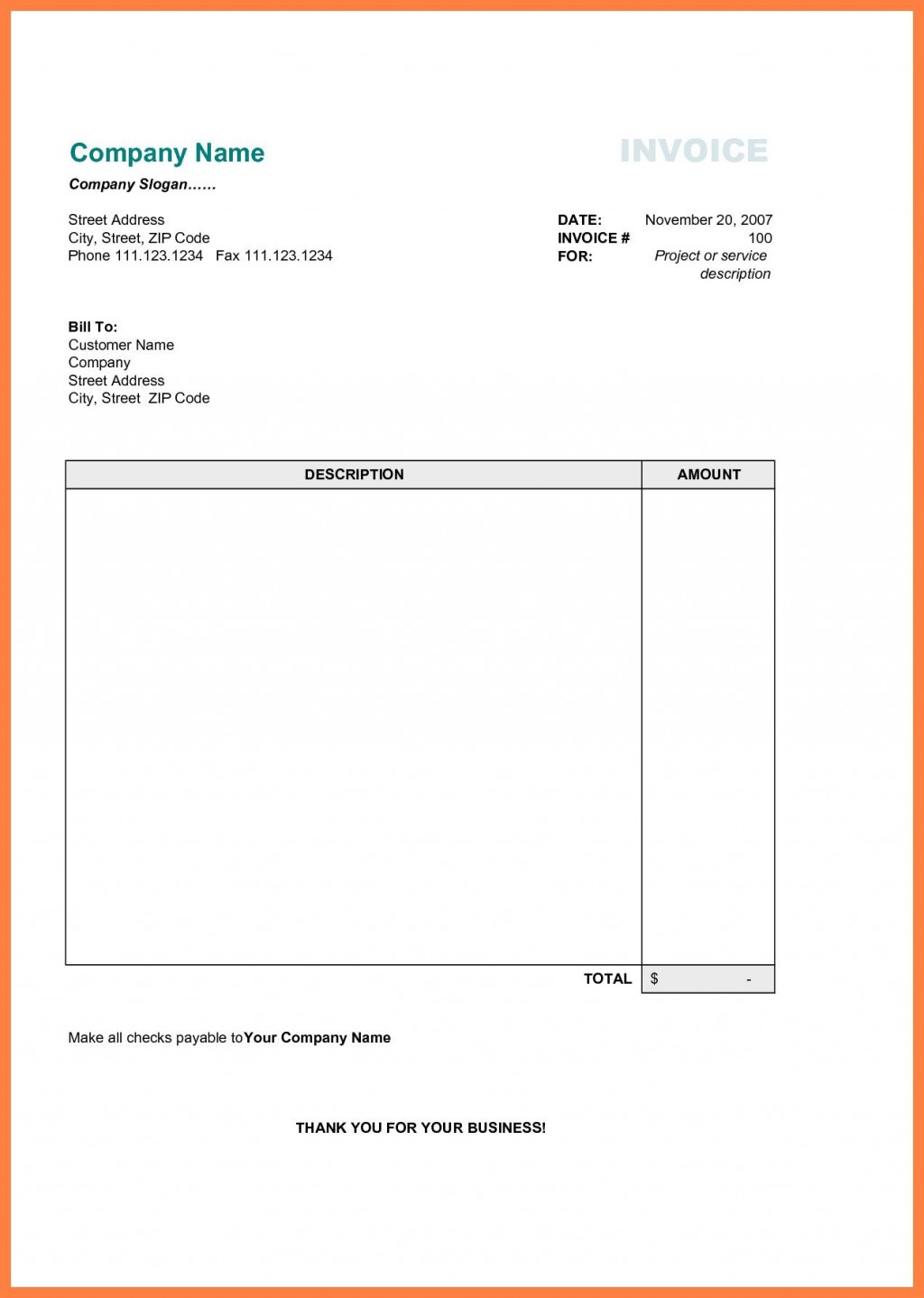 001 Wondrou Simple Invoice Template Word Highest Clarity  Cash Receipt Doc Download MicrosoftLarge