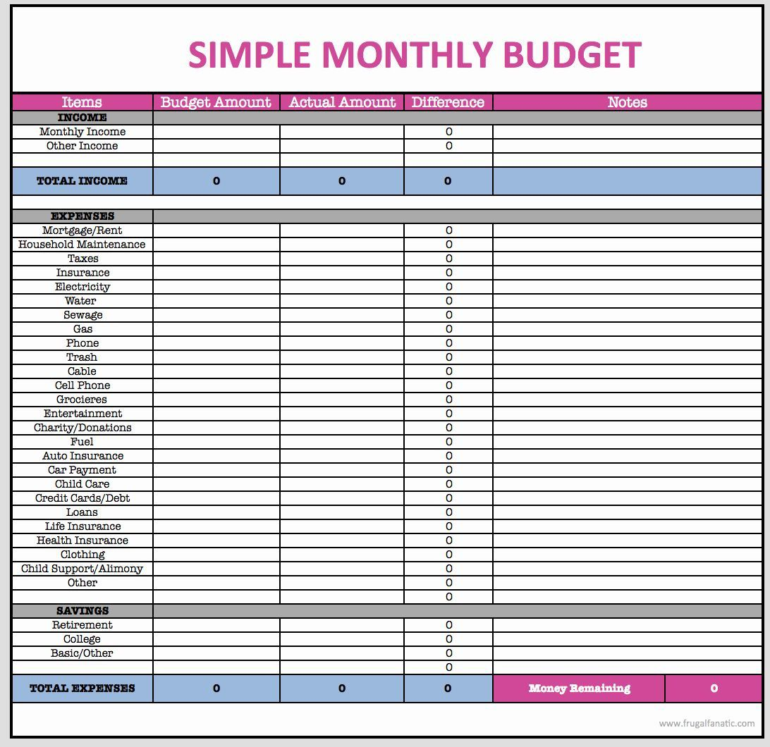 001 Wondrou Simple Line Item Budget Template Highest Clarity Full