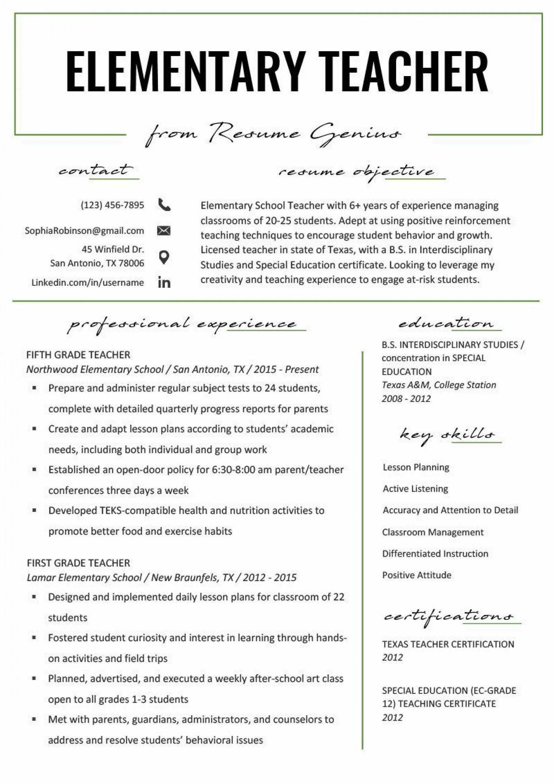 001 Wondrou Teacher Resume Template Free Sample  Cv Word Download Editable Format Doc1920