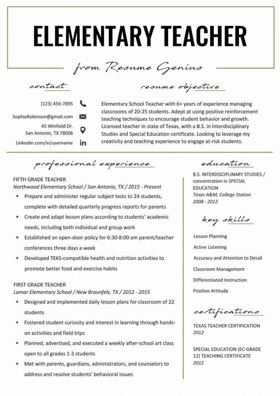 001 Wondrou Teacher Resume Template Free Sample  Editable Download Word Fresher Format Doc