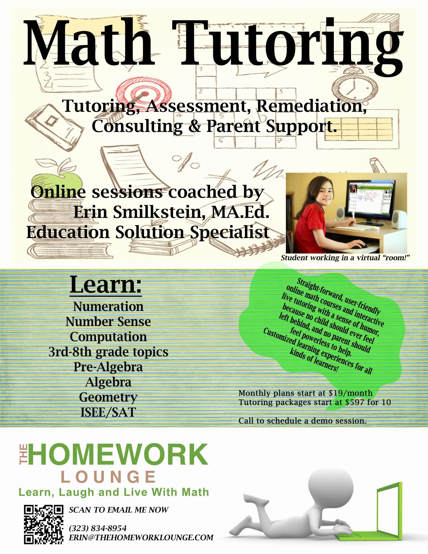 001 Wondrou Tutoring Flyer Template Free Photo  Word1400