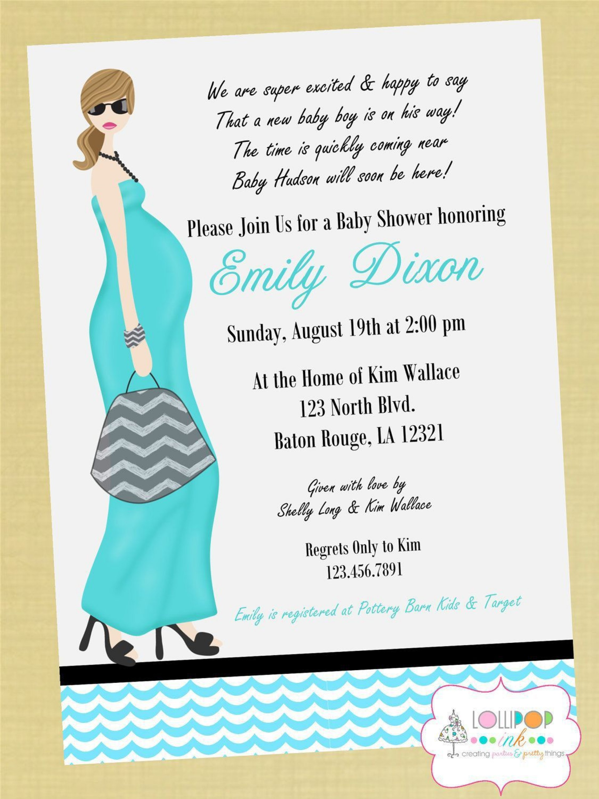 002 Amazing Baby Shower Invitation Wording Example High Resolution  Examples Invite Coed Idea For Boy1920