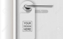 002 Amazing Blank Door Hanger Template High Definition  Free Printable Microsoft Word