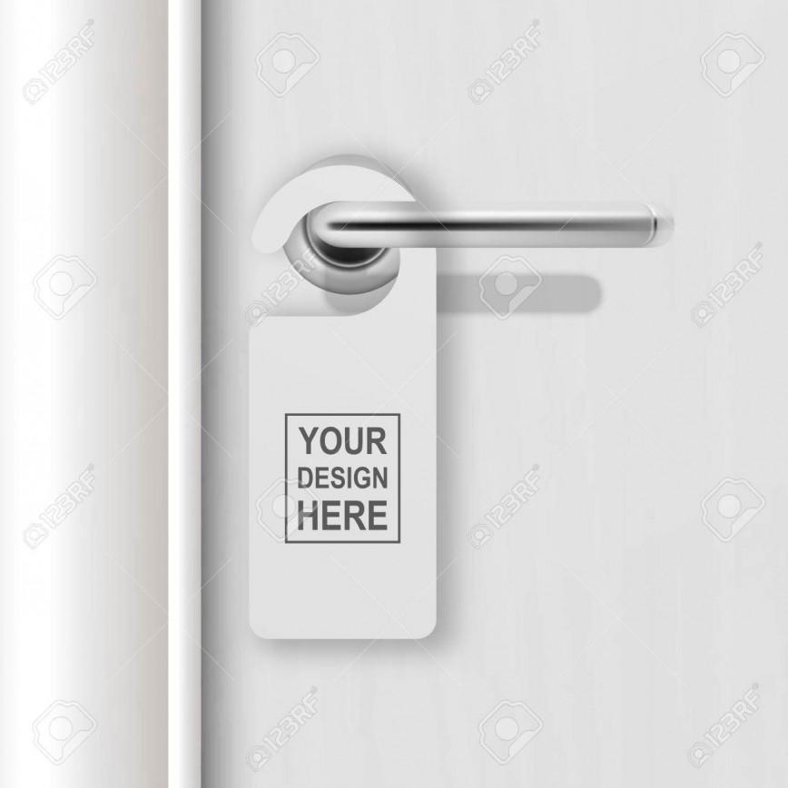 002 Amazing Blank Door Hanger Template High Definition  Free Microsoft Word
