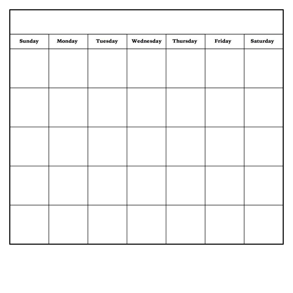 002 Amazing Blank Monthly Calendar Template Pdf Design  2019 PrintableLarge