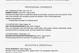 002 Amazing College Graduate Resume Template Highest Quality  Student Example 2020 New 2018